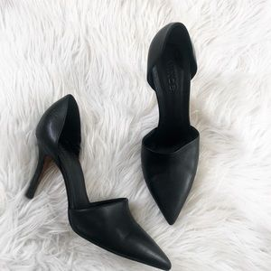 VINCE Claire pointed toe D'Orsay heeled shoes